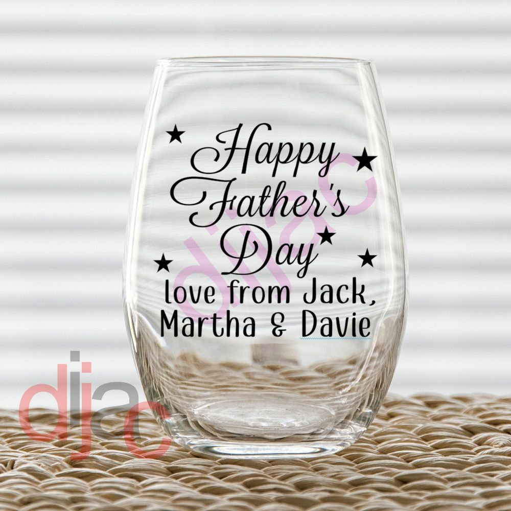 HAPPY  FATHER'S DAYPERSONALISED7.5 x 7.5 cm