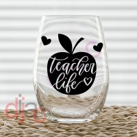 TEACHER LIFE<br>7.5 x 7.5 cm