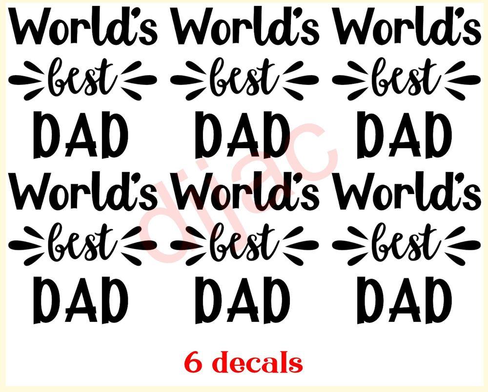 WORLD'S BEST DAD x 67.5 x 7.5 cm