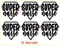 SUPER NURSE X 6<br>7.5 x 7.5 cm