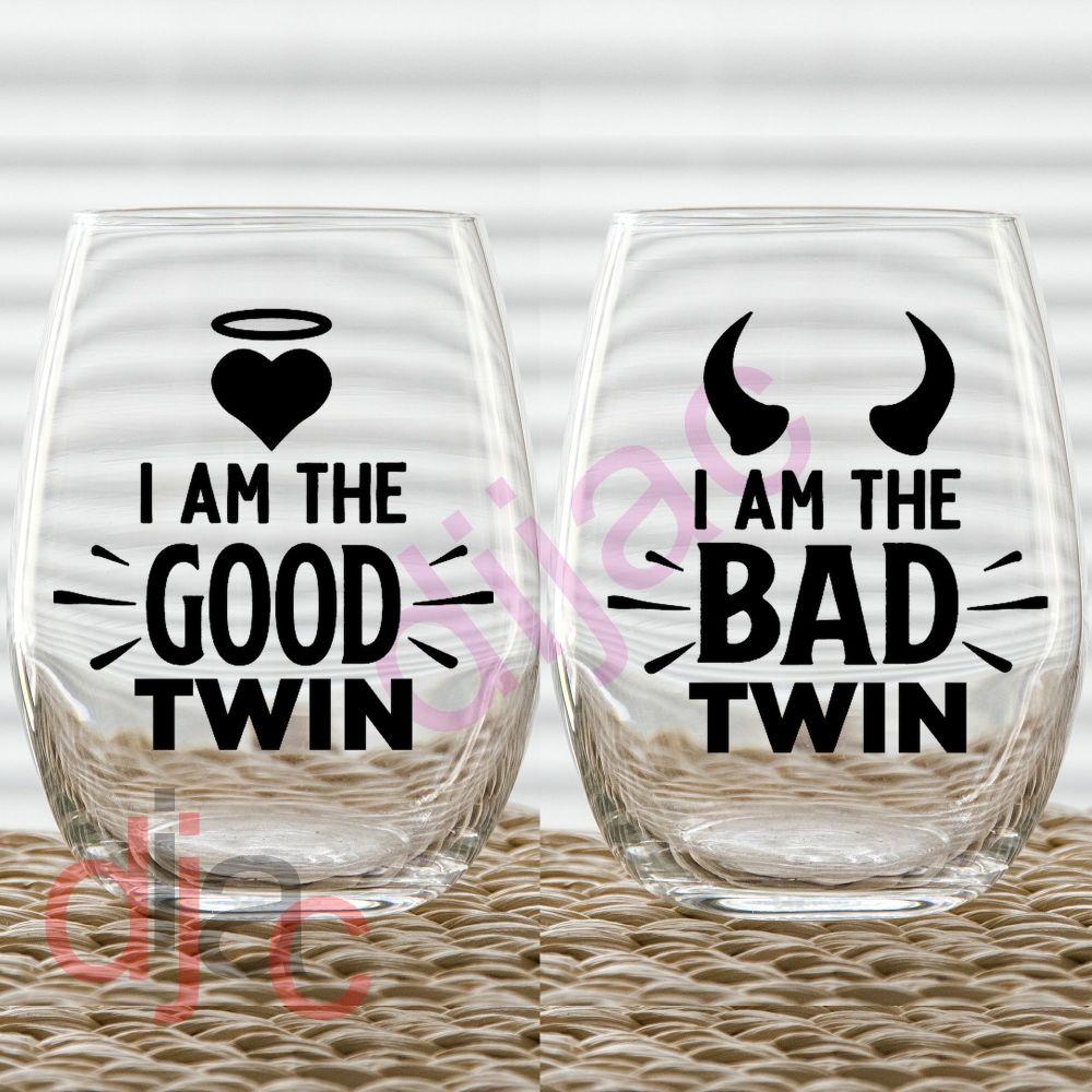 GOOD TWIN BAD TWIN7.5 x 7.5 cm