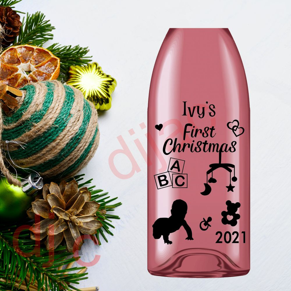 Christmas Decals<br>9 x 14 cm<br>Personalised