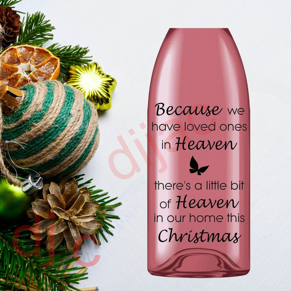 HEAVEN IN OUR HOME THIS CHRISTMAS (D1)9 x 14 cm decal