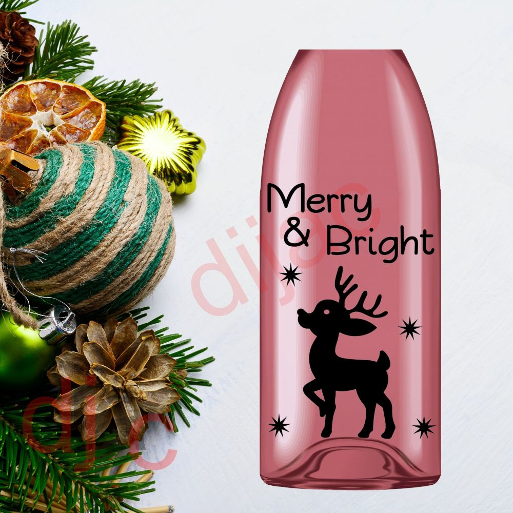 MERRY & BRIGHT (D2)9 x 14 cm decal
