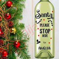 SANTA STOP HERE (D2)<br>Personalised<br>8 x 17.5 cm decal