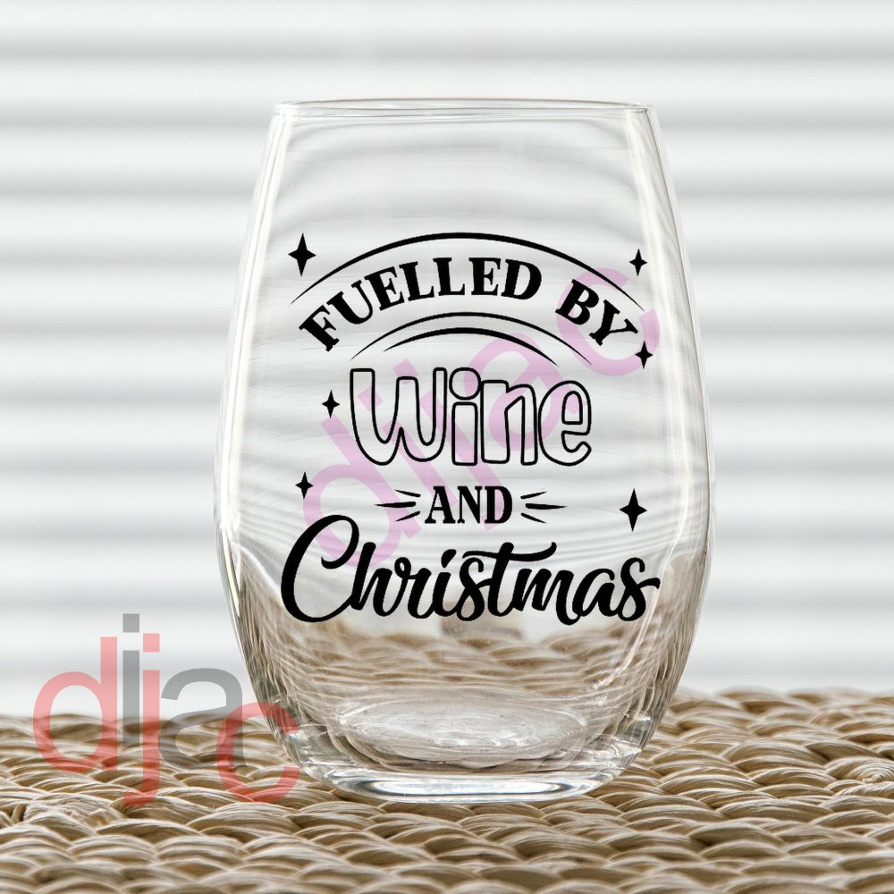 FUELLED BY WINE7.5 x 7.5 cm decal