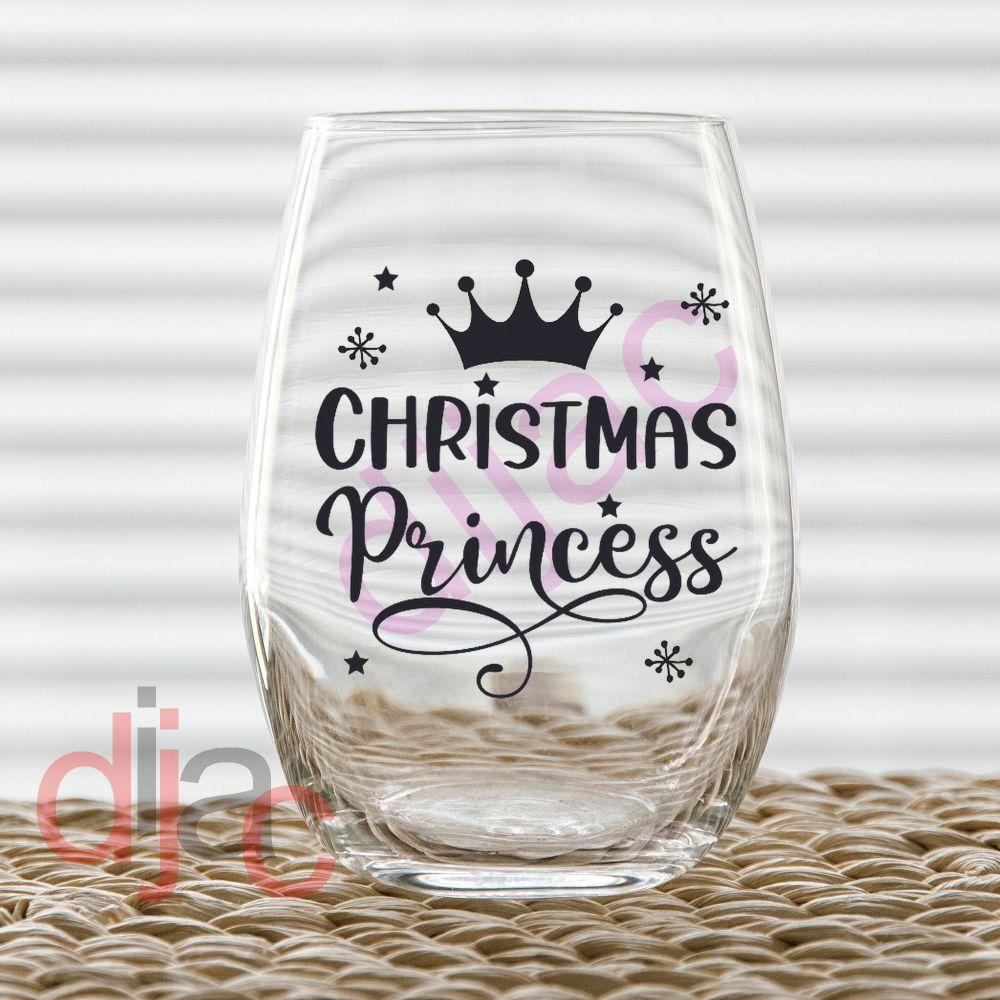 CHRISTMAS PRINCESS7.5 x 7.5 cm decal
