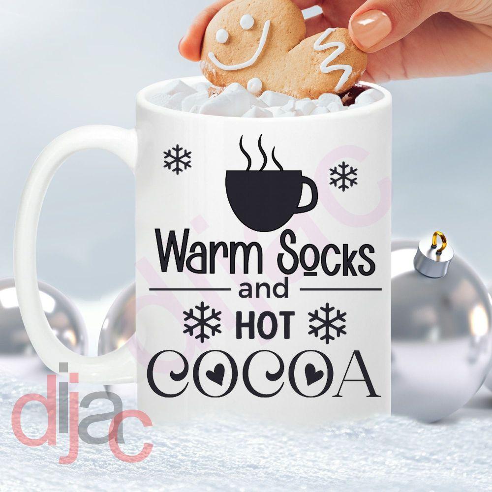 WARM SOCKS HOT COCOA8 x 8.5 cm decal