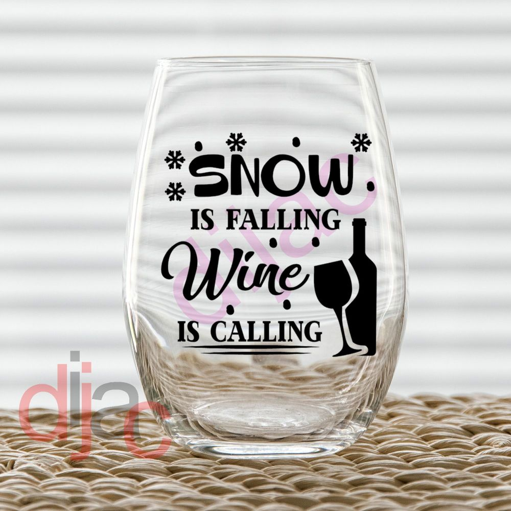 SNOW IS FALLING<br>7.5 x 7.5 cm decal
