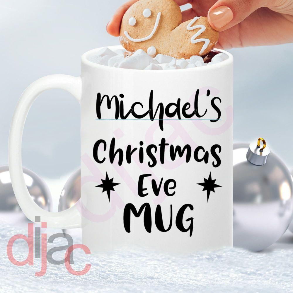 PERSONALISED CHRISTMAS EVE MUG<br>8 x 8.5 cm decal
