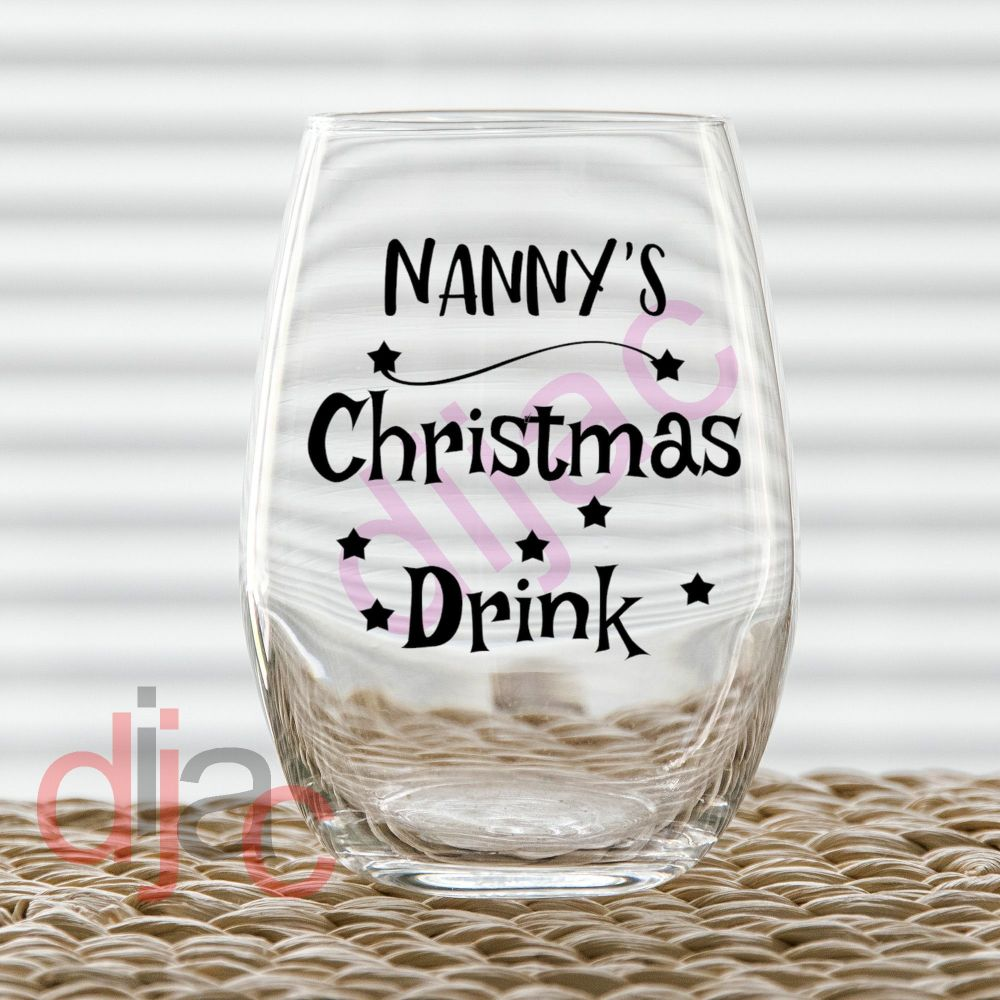 PERSONALISED CHRISTMAS DRINK<br>7.5 x 7.5 cm decal