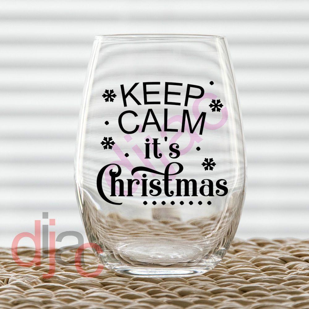KEEP CALM IT'S CHRISTMAS7.5 x 7.5 cm