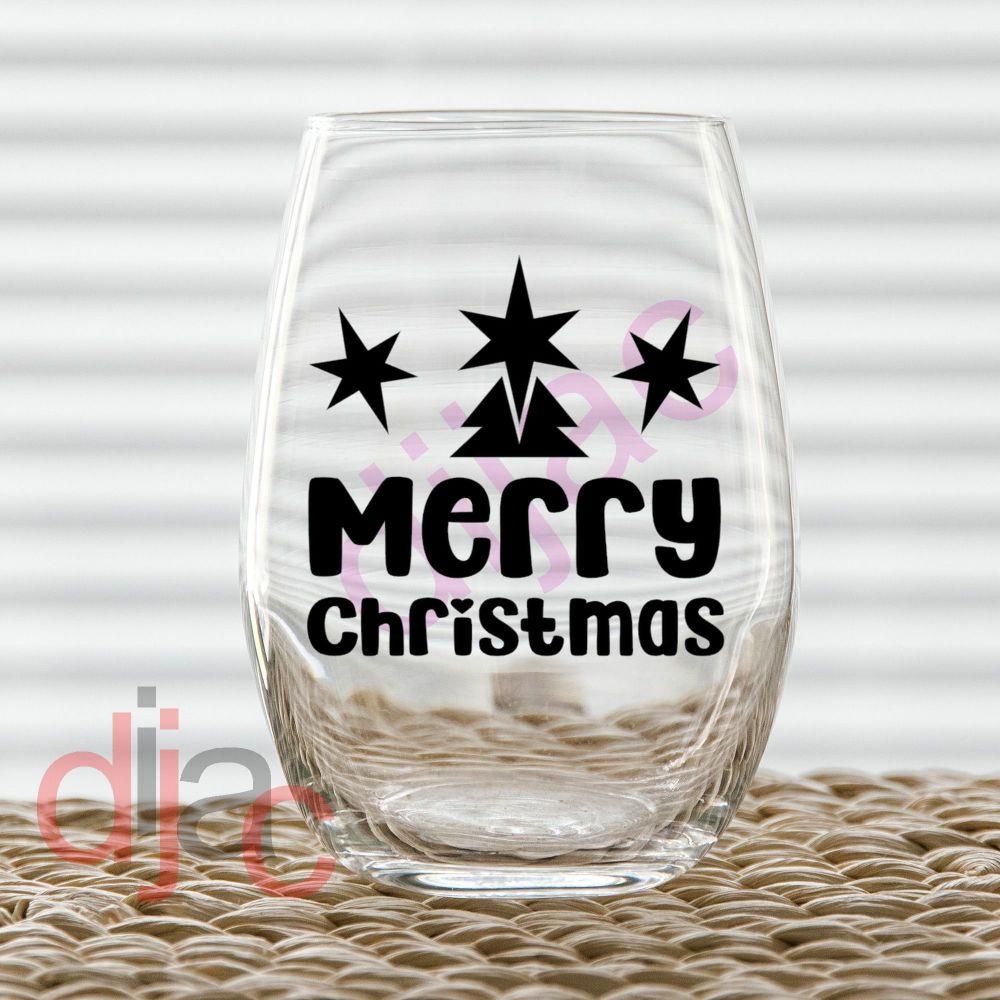 MERRY CHRISTMAS (D2)7.5 x 7.5 cm decal