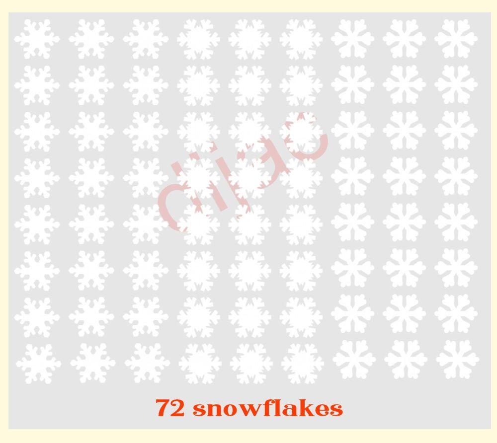 LARGE SNOWFLAKES X 722 x 2 cm