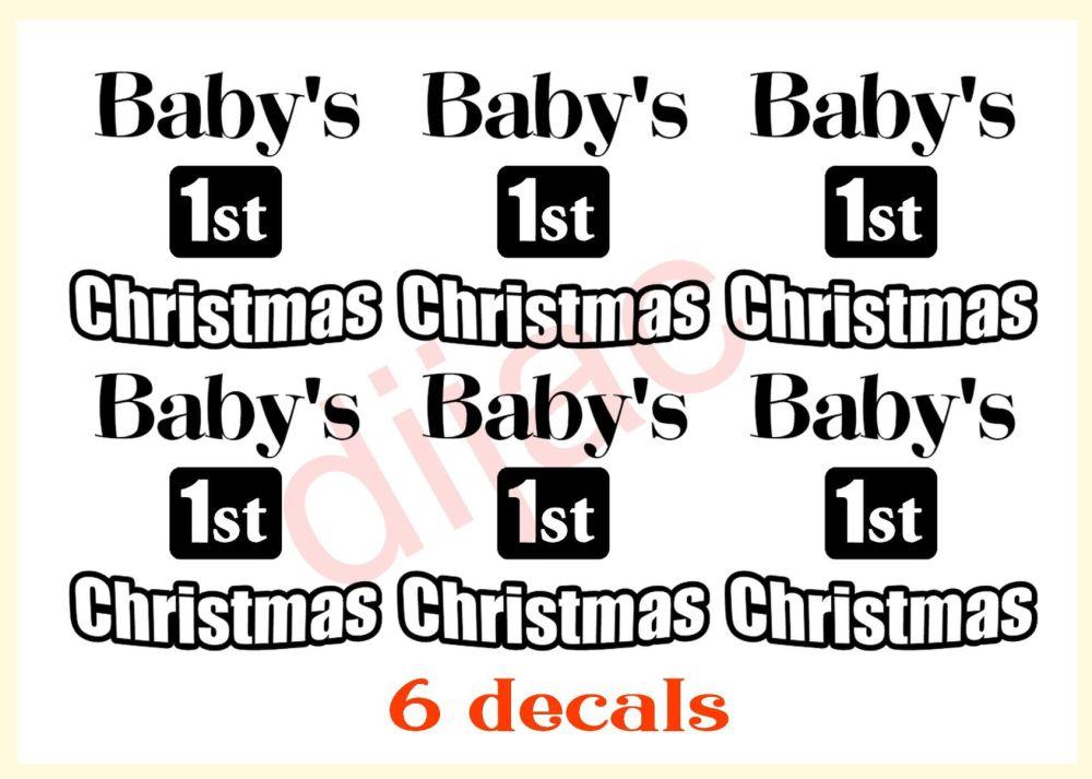 BABY'S 1st CHRISTMAS x 66.5 x 5.5 cm