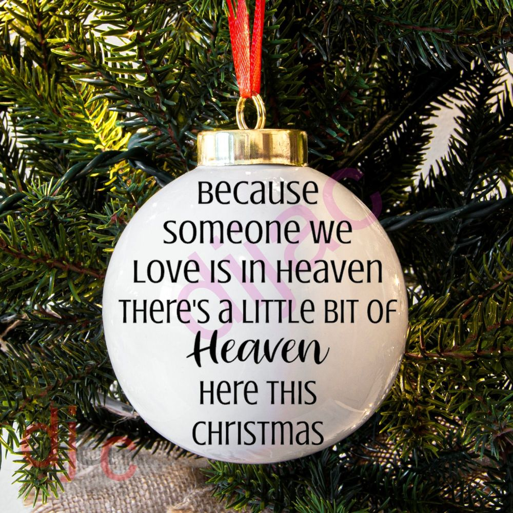HEAVEN HERE THIS CHRISTMAS'Someone'BAUBLE DECAL