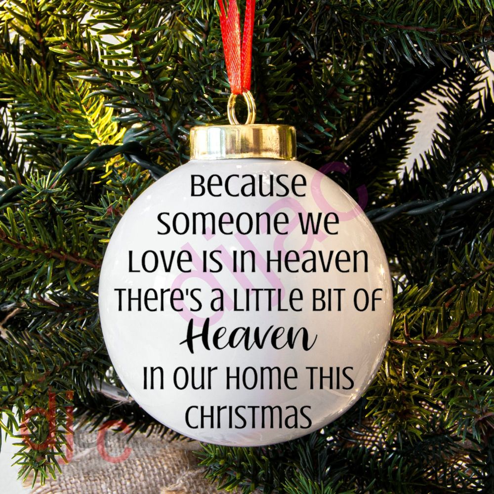 HEAVEN IN OUR HOME'Someone'BAUBLE DECAL