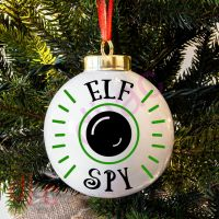 ELF SPY (D1)<BR>BAUBLE DECAL