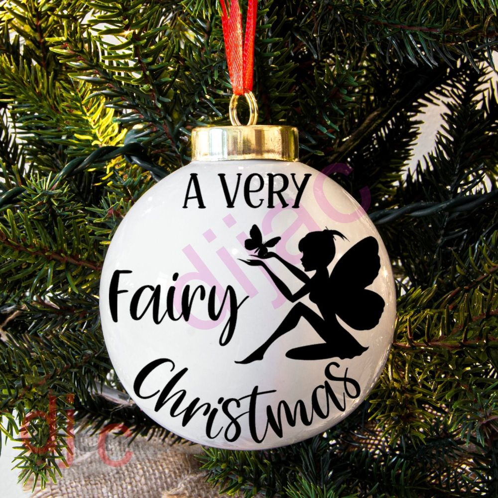 A VERY FAIRY CHRISTMASBAUBLE DECAL