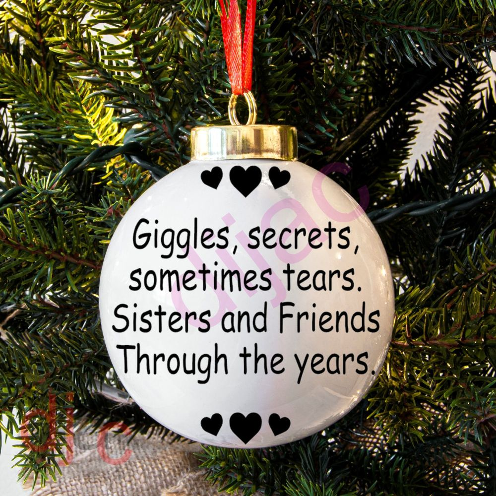 GIGGLES AND SECRETSBAUBLE DECAL