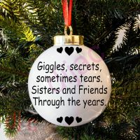 GIGGLES AND SECRETS<BR>BAUBLE DECAL