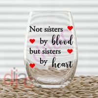 NOT SISTERS BY BLOOD DECAL