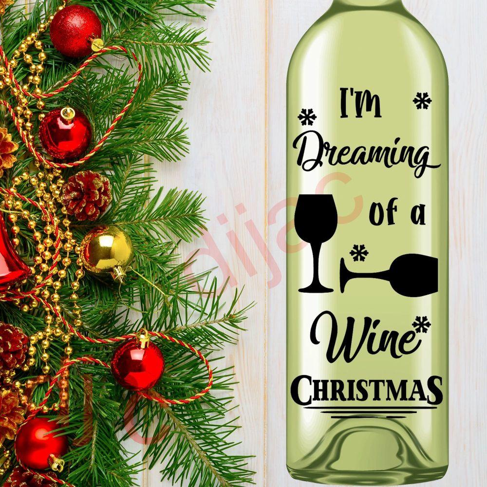 WINE CHRISTMAS8 x 17.5 cm decal