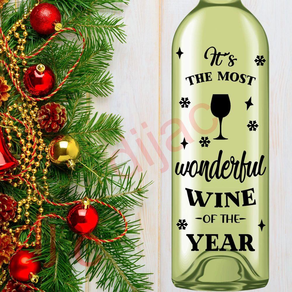 WONDERFUL WINE<br>8 x 17.5 cm decal