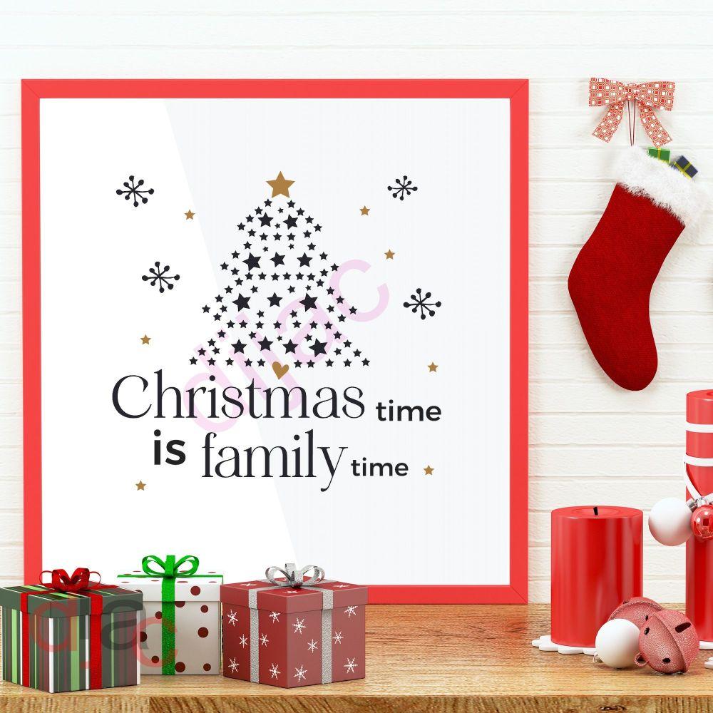 CHRISTMAS TIME FAMILY TIME15 x 15 cm