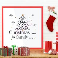 CHRISTMAS TIME FAMILY TIME<br>15 x 15 cm