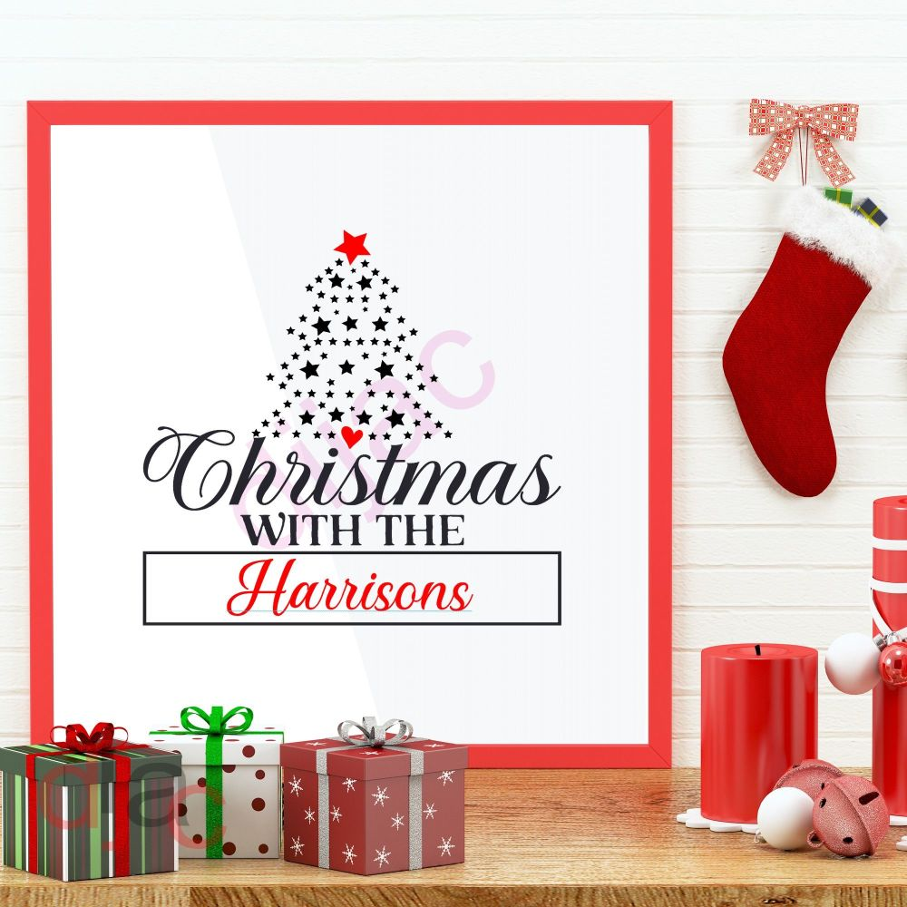 CHRISTMAS WITH THE... (D2)<br>Personalised decal<br>15 x 15 cm