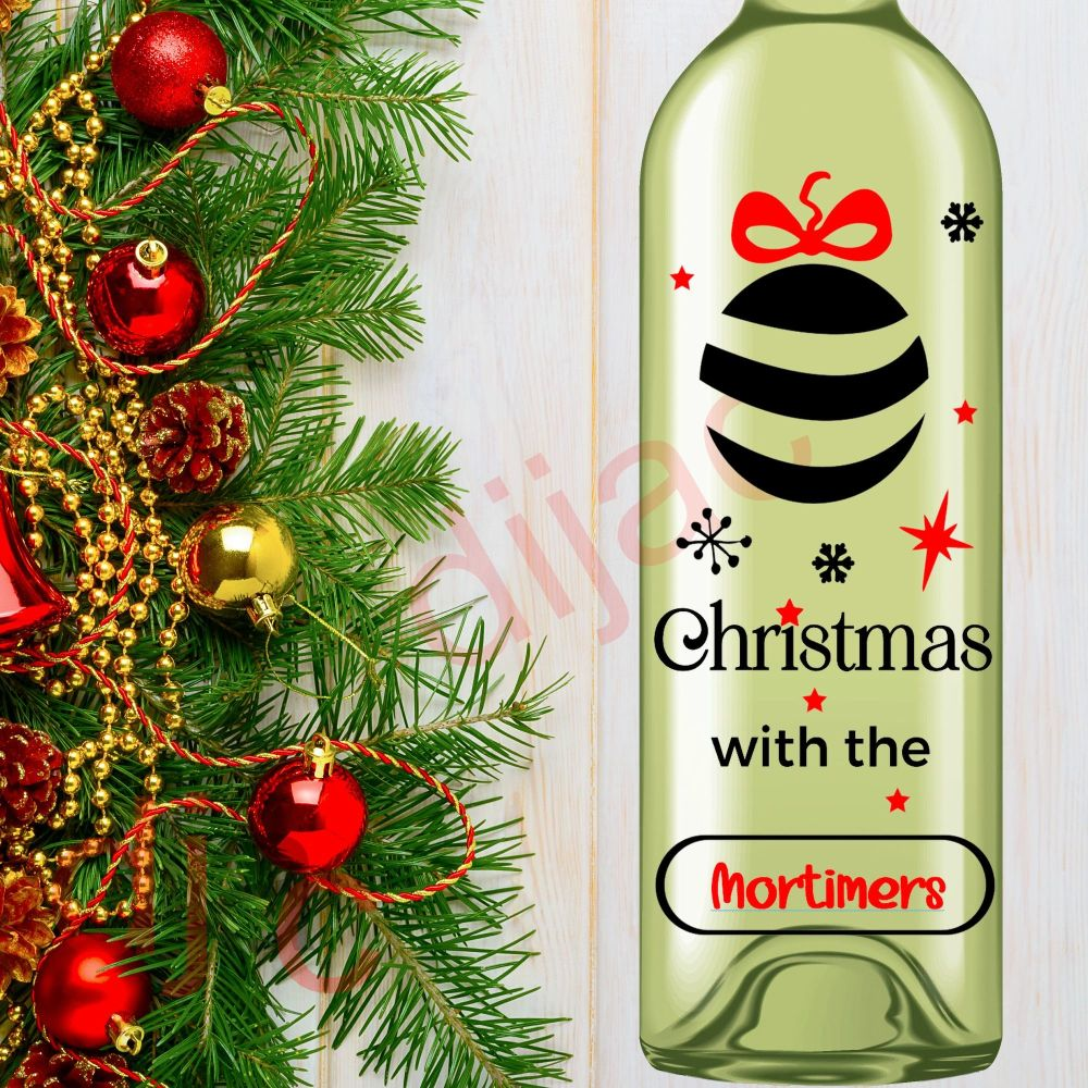 CHRISTMAS WITH THE....<br>Personalised<br>8 x 17.5 cm decal