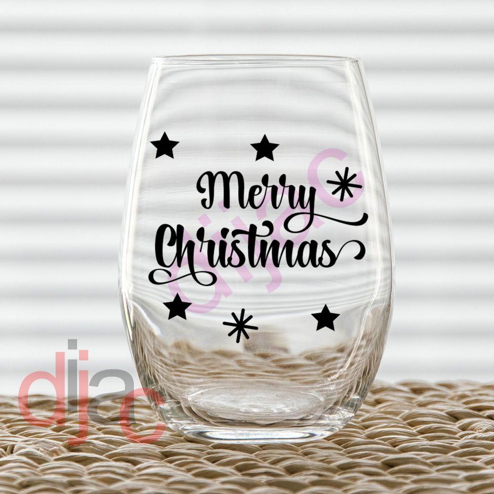 MERRY CHRISTMAS (D3)7.5 x 7.5 cm decal