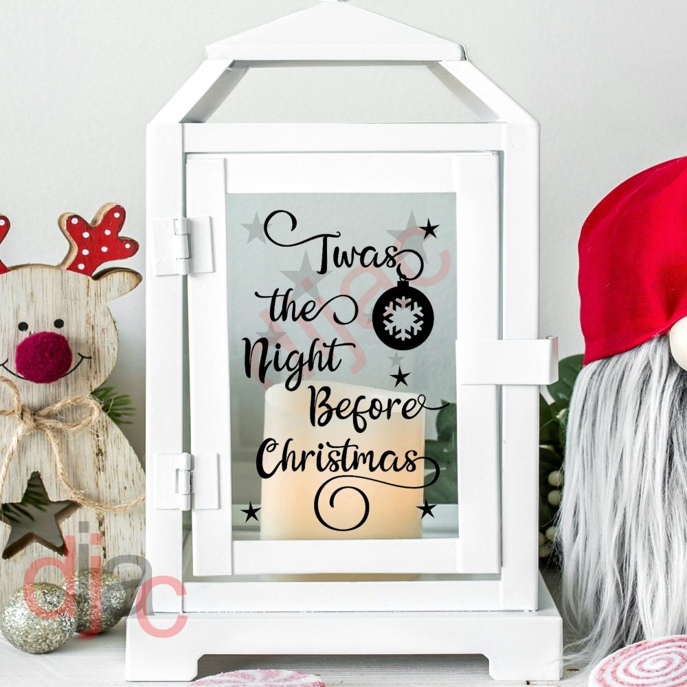 TWAS THE NIGHT BEFORE CHRISTMAS<br>2 part decal<br>9 x 13 cm