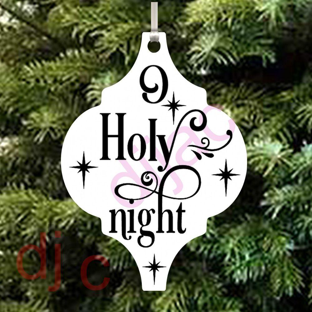 O HOLY NIGHT ARABESQUE ACRYLIC DECORATION