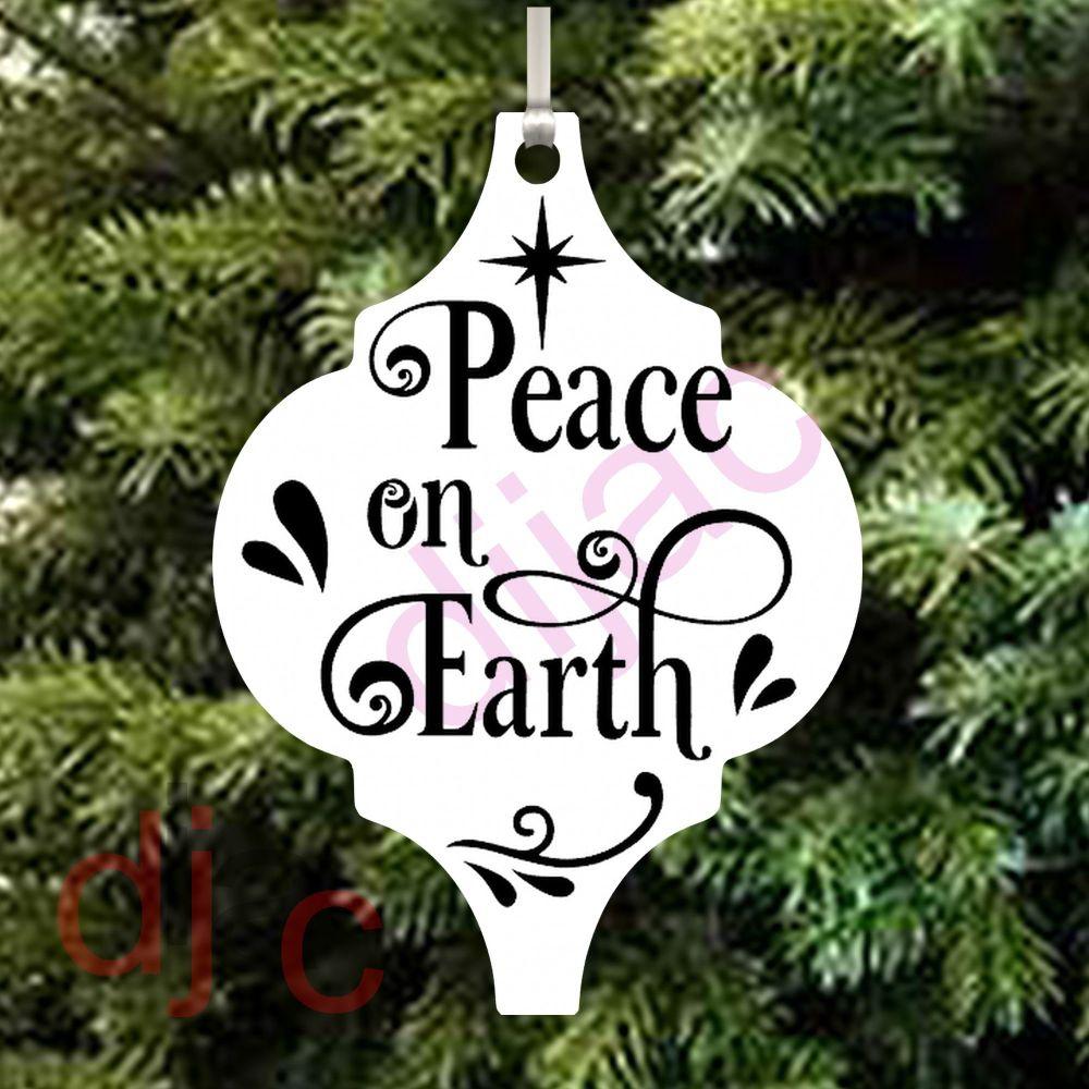 PEACE ON EARTH ARABESQUE ACRYLIC DECORATION