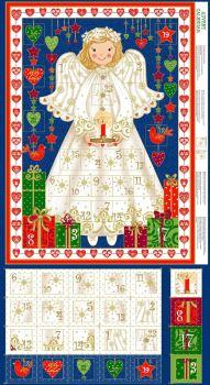 Angel Christmas Advent Calendar - Blue 15161