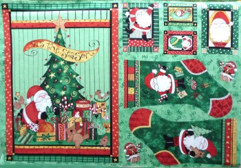 Here Comes Santa ('Tis The Season) Christmas Sack / Wallhanging & Stockings 1454