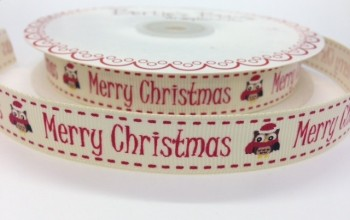 BTB044 - Merry Christmas Owl 15mm