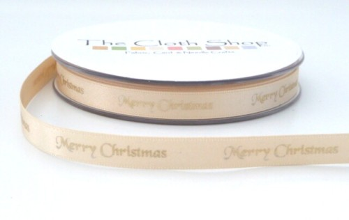 B12330-50 Gold Merry Christmas on Cream Background