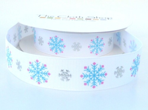 RC026-01 Turquoise Snowflake ribbon