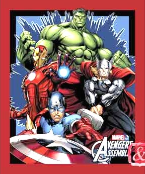 Marvel - Avengers Assemble Fabric Panel