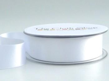 Double Satin Ribbon White 3501-01