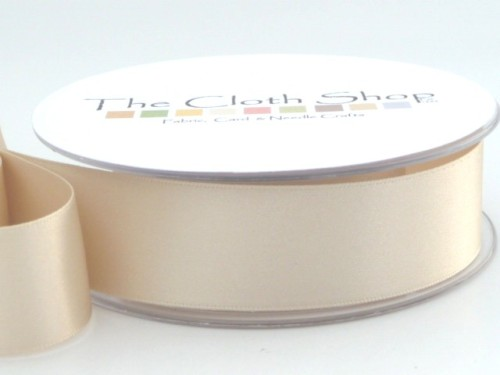 Double Satin Ribbon Cream 3501-50