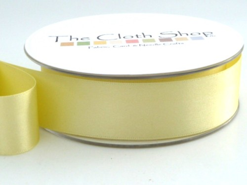 Double Satin Ribbon Pale Lemon 3501-14