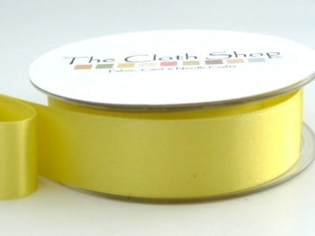 Double Satin Ribbon Lemon 3501-5