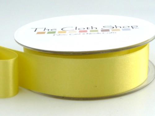 Double Satin Ribbon Lemon 3501-5