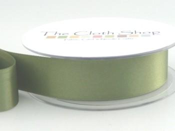 Double Satin Ribbon Khaki Green 3501-80