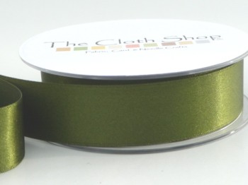 Double Satin Ribbon Cypress Green 3501-980