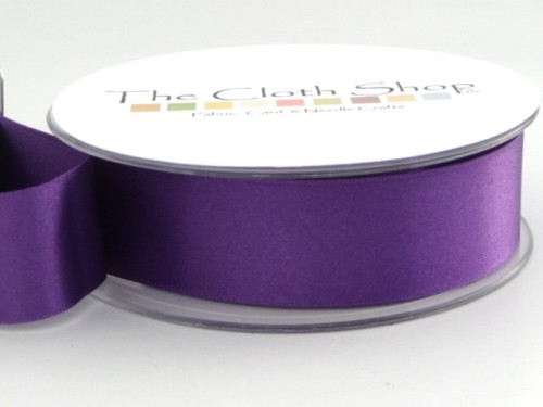 Double Satin Ribbon Purple 3501-19